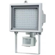 Strahler LED-Leuchte L130 PIR IP44 mit Infrarot-Bewegungsmelder 7,9W 560lm 130xLED weiß