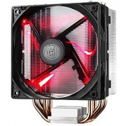 Cooler Master Hyper 212 LED CPU Cooler with PWM Fan Four Direct Contact Heat Pipes Unique Blade Design and Red LEDs