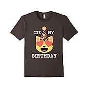 5th Birthday T-Shirt Heart Eyes Cat Emoji Birthday Shirt