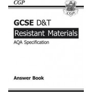 GCSE D&T Resistant Materials AQA Exam Practice Answers (for Workbook) (A*-G Course) by CGP Books