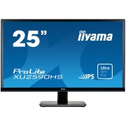 iiyama ProLite XU2590HS-B1 25' ULTRA SLIM LINE LED LCD 1920x1080 IPS 250 cd/m² 5M:1 ACR speakers VGA DVI & HDMI 5ms TCO6