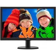 "Monitor LED Philips 23.6"" 243V5LHAB, Full HD (1920 x 1080), DVI, HDMI, 5 ms, Boxe (Negru)"