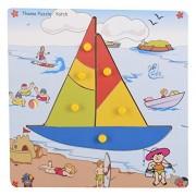 Skillofun Wooden Theme Puzzle Standard Yatch Knobs, Multi Color