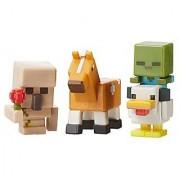 Minecraft Mini Figure 3-Pack Iron Golem with Flower Chicken Zombie & Palamino Horse