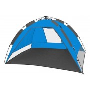 CampFeuer - Automatik Strandmuschel, beach tent, blau/grau