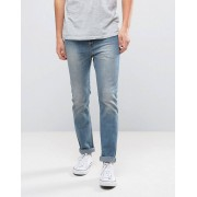 WeSC Eddy Slim Fit Jeans in Washed Out Blue - Blue (Sizes: W33 L32, W34 L34, W34 L32, W29 L32, W28 L32, W36 L32, W30 L32, W32 L34, W32 L32, W33 L34)