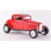 Ford cinco Window Coupe, rojo , 1932, Modelo de Auto, modello completo, Motormax 1:18