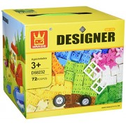 Designer Large Building Bricks 72pcs Set Classic Box Of Big Building Bulk Blocks Assorted Colors Tight Fit Compatible With Duplo Lego Parts Great Gift For Children Who Love Building Toy Game