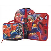 Fast Forward Spiderman Large Backpack with Lunch Kit and Binder