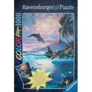 Ravensburger Color Starline Puzzle SEA OF LOVE 1000 Pieces Glow in the Dark Dolphin Beach Scene Anthony Casay by Ravensburger