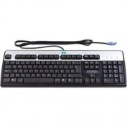 HP DT527A Standard - Keyboard - PS/2 - English - US - silver, carbonite - for HP 60XX, Elite 8000, Elite 8100, Pro 2000, 30XX, Thin Client t5550, t5565, t5570, t5740