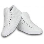Cash Money Heren Schoenen - Heren Sneaker Mid High - Wit