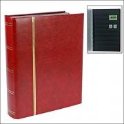 155 - 1 sellos safe disco/bolsillo para guardar los libros libro Premium DIN A4 - 64 páginas negras - con relieve dorado Premium rojo/rojo