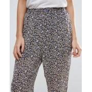 Ganni Allen Georgette Rose Print Trousers - Multi