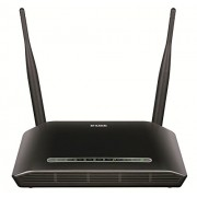 D-Link 2750U/IN/I Wireless N 300 ADSL2 Router (Black) with Modem (Compatible with MTNL, BSNL, Airtel, Reliance Communication and Tata Indicom)