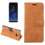For Samsung Galaxy S8 Plus Sheep Bar Material Horizontal Flip Leather Case with Holder & Card Slots & Wallet & Photo Frame (Brown)