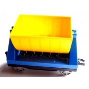 Lego Trailer amarillo azul claro 10508
