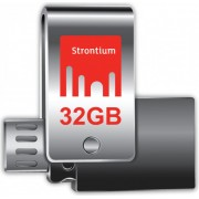 Strontium 32GB OTG 3.0 USB Flash Drive, For Smart Phones - Tablets - PC