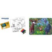 Miniland 36023 - Puzzle giungla africana, 56 pz, 42 x 31 cm