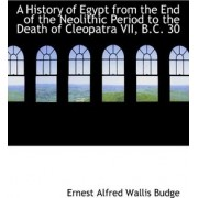 A History of Egypt from the End of the Neolithic Period to the Death of Cleopatra VII, B.C. 30 by Ernest Alfred Wallis Budge
