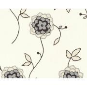 A.S. Création 1228-65 - Carta da parati floreale, colore: Bianco / Beige / Argento