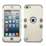 Funda Protector Triple Layer Apple Ipod Touch 5G / 6G Blanco / Gris