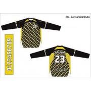 FLOORBEE Goalie Uniform Jr. L černá / bílá / žlutá