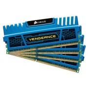 Corsair - CMZ16GX3M4A1600C9B - Mémoire RAM - DDR3 1600 - 16 Go COR CL9 Vengeance Blue Kit4