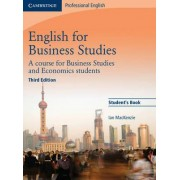 English for Business Studies Student's Book by Ian Mackenzie