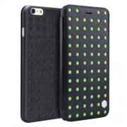 NILLKIN for iPhone 6 Plus & 6s Plus R61 Texture Hollow-out Hit Color Dots POPI Leather Case with Card Slot Attached with PET Screen Protector & Dust Absorber & Cleaning Cloth(Green)