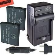BM Premium ENEL19 Battery & Charger Kit for Nikon Coolpix S32 S100 S3100 S3200 S3300 S3500 S3600 S4100 S4200 S4300 S5200 S5300 S6400 2 PACK