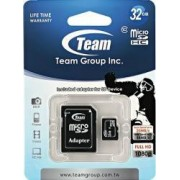Card de Memorie Team Group microSDHC 32GB Clasa 10 + Adaptor SD