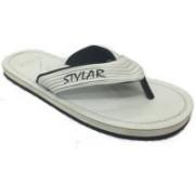 Stylar White Virat II Flip Flops