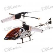 USB recargable 3 Canales Mini R / C Helicoptero Set - Negro