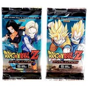 Dragon Ball Z Collectible Trading Card Game Evolution Booster Pack by Panini - 2 Pack Set - 5 Cards Each Pack 10 Cards Total