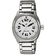 Fastrack Quartz White Round Men Watch 3076SM03