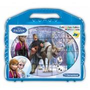 Kubus Frozen puzzel Anna en Elsa 6 x
