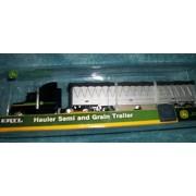 (2) 12 Inch John Deer Trucks with Trailers/ Hauler Semi and Grain Trailer/Hauler Semi and Tractor with Cart