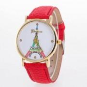 Geneva Eiffel karóra/ rózsaszín szíj