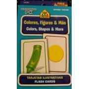School Zone Bilingual Spanish English Colors (Colores), Shapes (Formas), & More Flash Cards Grades P