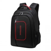 INDEPMAN DL-B015A Fashion Business Style 15 inch Nylon Laptop Notebook Computer Bag Backpack Shoulders Bag with Adjustable S-shaped Shoulder Strap for Men and Women Size 33 x 48 x 14 cm(Black)