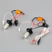 EW 2pcs 1156 de dos colores de la conmutación LED luz de señal con Kit de funciones DRL