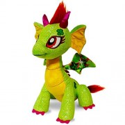 GlitterShine Dragons Plush Stuffed Toy Green Sparkling Dragon - 12 Inches - Twinkle Luck