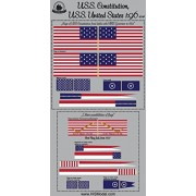 Revell USS Constitution set of flags 1:96