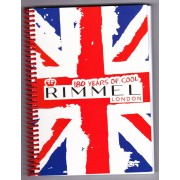Cahier A Spirale 21 X 14,8 Cm 100 Pages (Une Blanche, Une Rayée) Rimmel London 180 Years Of Cool
