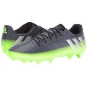 adidas Messi 163 FG Dark GreySilver MetallicSolar Green