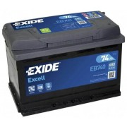 EXIDE Excell EB740 74Ah 680A autó akkumulátor jobb+