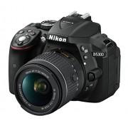 """Nikon D5300 e Nikkor AF-P 18/55VR, Fotocamera Reflex Digitale, 24,1 Megapixel, LCD HD 3"""" Regolabile, SD 8GB 300x Premium Lexar, Nero [Nital card: 4 anni di garanzia]"""