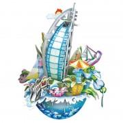 City Scape Dubai - Puzzle 3D - 57 de piese