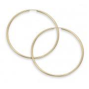 """14K Gold Hoop Earrings - 1 1/2"""" diameter (2mm thickness)"""